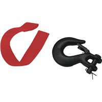 Hook With Safety Latch & Strap Kit - Black