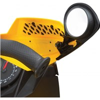 Handlebar air deflector mirror kit