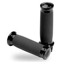 Contour Renthal® Wrapped Grips by Performance Machine (Black Anodized)