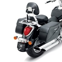 Chrome Billet Passenger Backrest, Large Pad