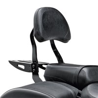 Black Billet Passenger Backrest Large Pad