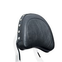 Chrome Passenger Backrest Large Studded Pad