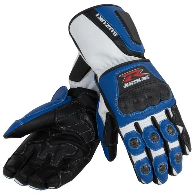 Gsx-R Leather Gauntlet Gloves, Blue | Yamaha Sports Plaza