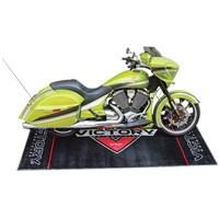 Logo Garage/Bike Mat-Black by Victory Motorcycles®
