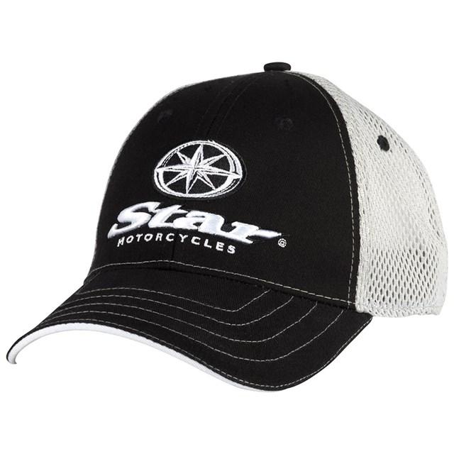 yamaha hat. star® motorcycles black and white mesh hat yamaha c
