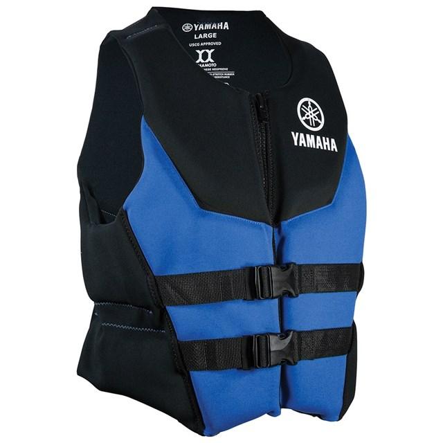 Blue,Large Yamaha Mens Neoprene Two-Buckle PFD Life Jacket Vest