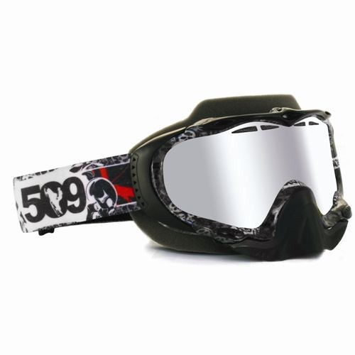Sinister Goggles by 509® Skull Camo (Chrome Mirror/Yellow Tint Lens)