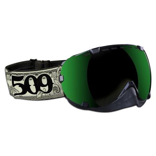 Aviator Goggles by 509® Dollar Bill (Green Mirror/Rose Tint lens)