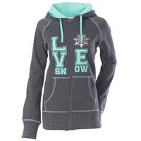 Love Snow Zip Hooded Sweatshirt by Divas SnowGear®