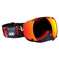 Aviator Goggles by 509® Red (Fire Mirror/Rose Tint lens)