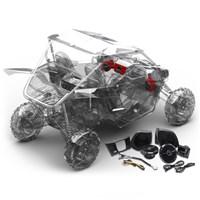 YXZ Stage 2 Stereo Kit by Rockford Fosgate®