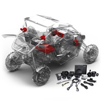 YXZ Stage 4 Stereo Kit by Rockford Fosgate®