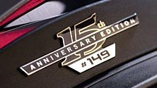 NUMBERED BADGE FOR LIMITED EDITION MODEL