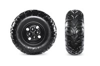 Duro 3 Star Kaden Tires & Powder-Coated Steel Wheels