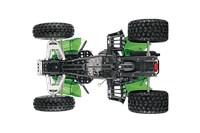 Double A-arm Front Suspension & Long-travel Rear Suspension w/adjustable shocks